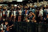 Unloading fish at dawn on the Sassoon Docks in South Mumbai