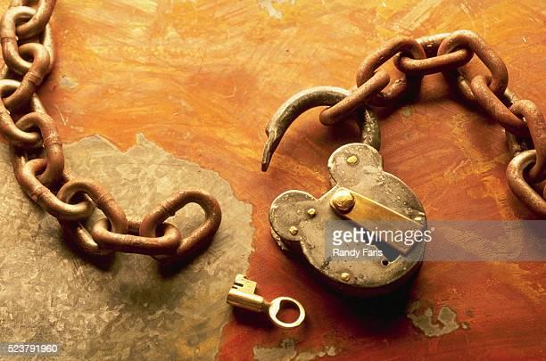 Unlocked Lock and Key