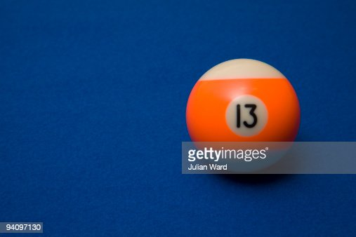 Unlucky Number 13 Pool ball : Stock Photo