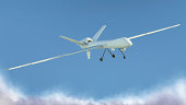 Unmanned Aerial Vehicle (UAV), also known as Unmanned Aircraft System (UAS) - 3d rendered image