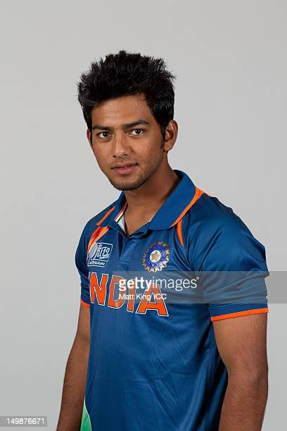 Unmukt Chand of India poses during a ICC U19 Cricket World Cup 2012 portrait session at Allan Border Field on August 6 2012 in Brisbane Australia