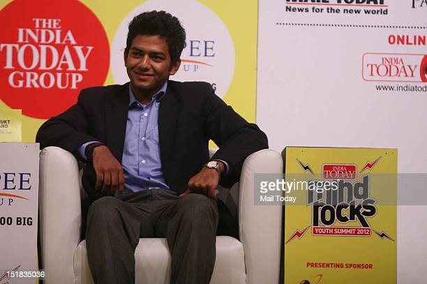 Unmukt Chand under 19 Indian Cricket Team captain during the India Today Mind Rocks Youth Summit 2012 in New Delhi on Friday