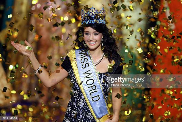 Unnur Birna Vilhjalmsdottir of Iceland celebrates after winning the 55th Miss World champion during the finals at the Beauty Crown Theatre on...