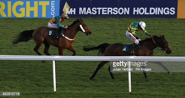 Unowhatimeanharry ridden by Barry Geraghty leads Cole Harden ridden by Gavin Sheehan home to win The galliardhomescom Cleeve Hurdle Race run during...