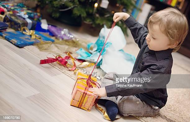 Unpacking christmas presents