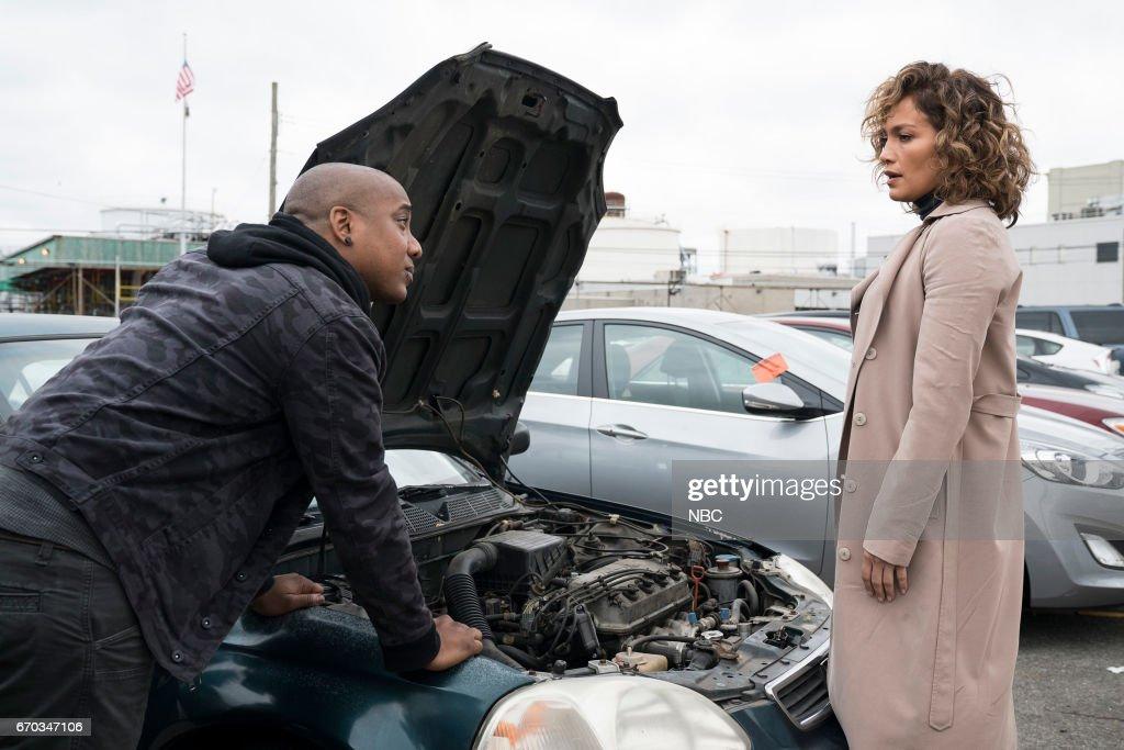BLUE -- 'Unpaid Debts' Episode 208 -- Pictured: (l-r) Hampton Fluker as Marcus Tufo, Jennifer Lopez as Harlee Santos --