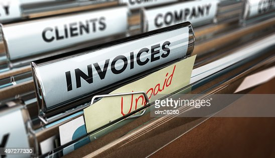 Unpaid invoices, Financial Concept : Stock Photo
