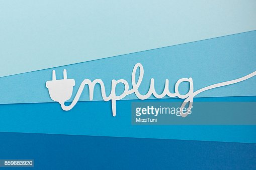 Unplug - take a break from work and enjoy life : Stock Photo