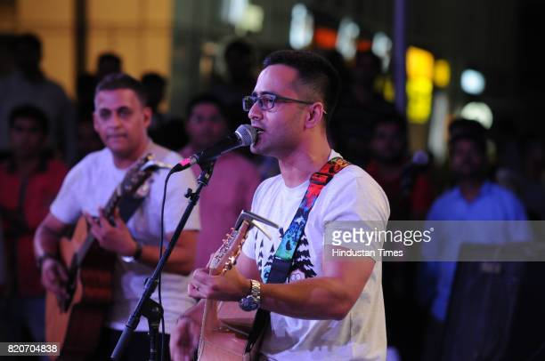 Unplugged band performs at Friday Jam season4 organised by Hindustan Times at CyberHub on July 21 2017 in Gurgaon India