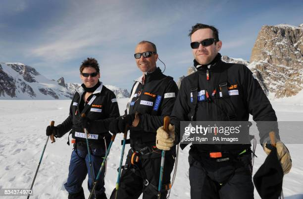 Unreleased picture date is Friday April 18 2008 Left to right City worker Will Gow Team Leader Henry Worsley 47 and shipping lawyer Henry Adams...