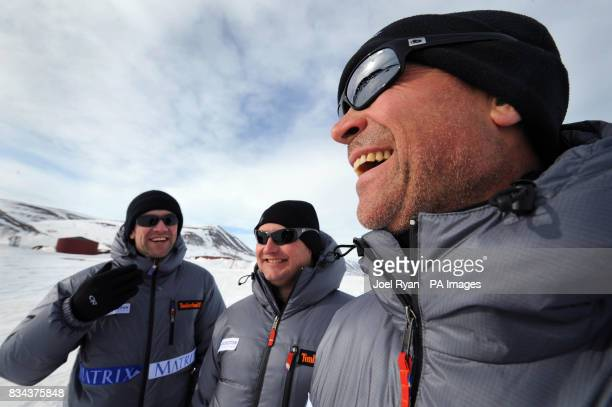 Unreleased picture date is Friday April 18 2008 Left to right Shipping lawyer Henry Adams City worker Will Gow and Team Leader Henry Worsley during a...
