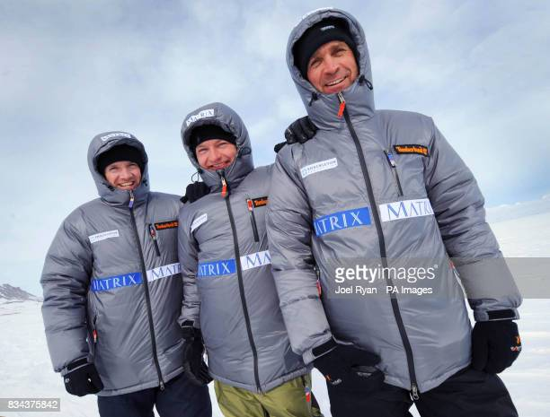 Unreleased picture date is Friday April 18 2008 Left to right Team Leader Henry Worsley shipping lawyer Henry Adams and City worker Will Gow in Milne...