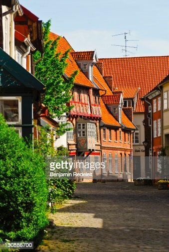Untere Ohlingerstrasse in the old part of town, Lueneburg, Lower Saxony, Germany