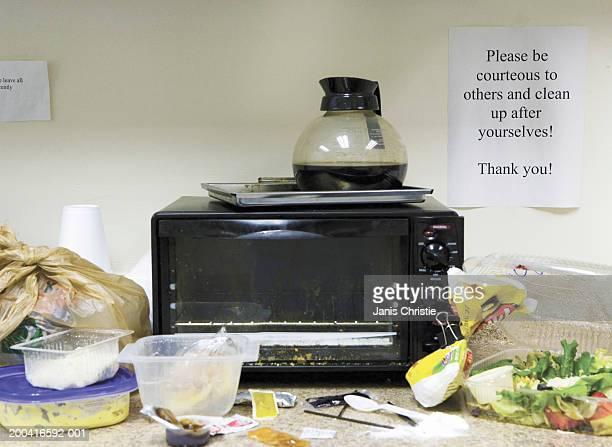 Untidy office kitchen area