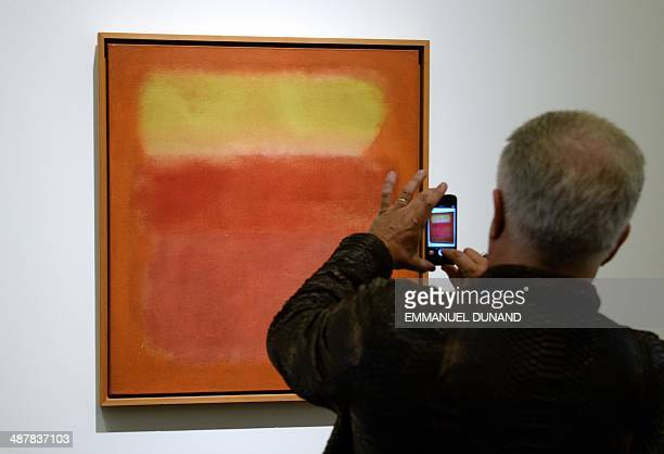 'Untitled' by Mark Rothko is on display during a preview of Sotheby's contemporary art evening sale in New York May 2 2014 Sotheby's is to hold it's...