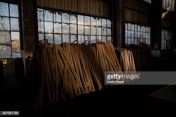 Unused steel sits in the abandoned Qingquan Steel plant which closed in 2014 and became one of several socalled 'zombie factories' on January 26 2016...