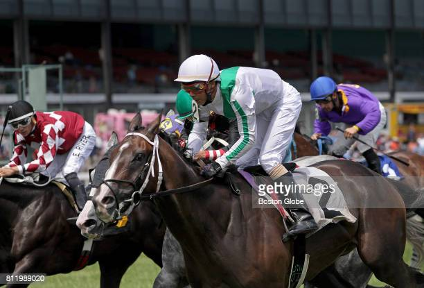 Unusual Fleet ridden by Jockey D Panell wins the first race of the day at Suffolk Downs in East Boston on Jul 8 2017 It was one of six days on which...