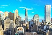 Unusual New York cityscape, Mid Manhattan