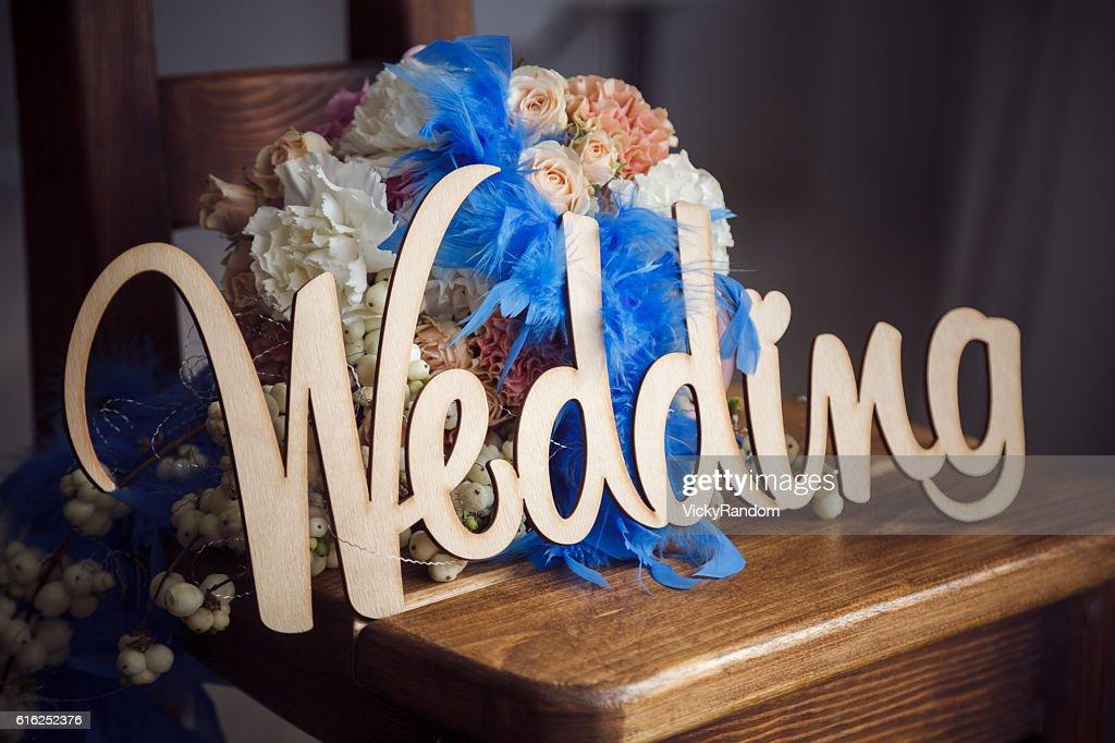 Ungewöhnliche Hochzeit blumenstrauß : Stock-Foto