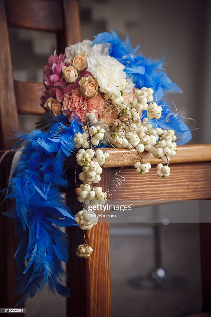 Unusual wedding bouquet : Stock Photo