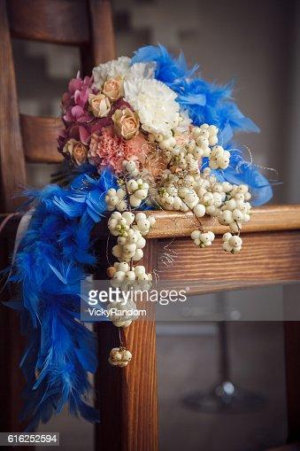 Unusual wedding bouquet : Stock Photo