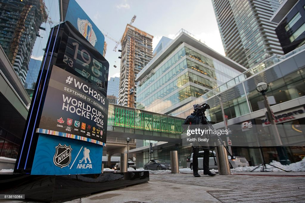 Unveiling of the Countdown Clock for World Cup of Hockey at the Air Canada Centre.