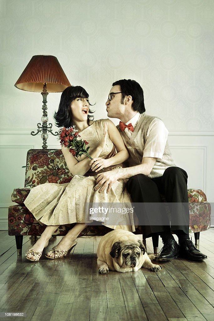 Unwanted Kiss : Stock Photo