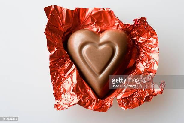 Unwrapped Valentine's chocolate