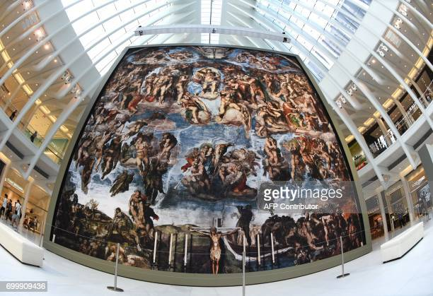 'Up Close Michelangelo's Sistine Chapel' an exhibit of museum quality nearlife size reproductions of the master's frescos that adorn the Sistine...