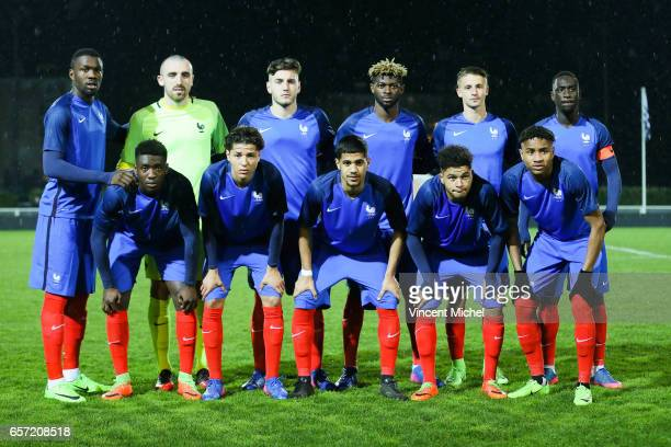 Marcus Thuram Paul Bernardoni Yoann Severin Jerome Onguene Olivier Boscagli and Jean Kevin Augustin Down from left to right Enok Kwateng Amine Harit...