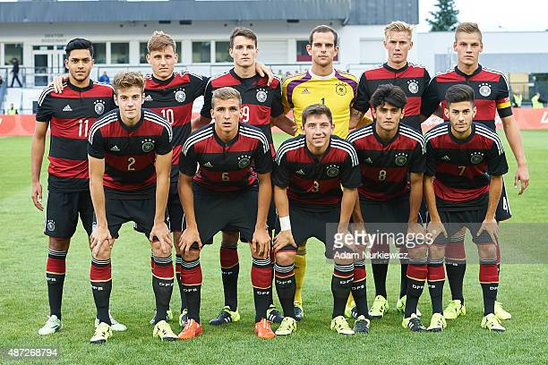 up row Nadiem Amiri and Maximilian Eggestein and Sebastian Stolze and goalkeeper Marius Gersbeck and Marvin Schulz and Max Christiansen and down row...