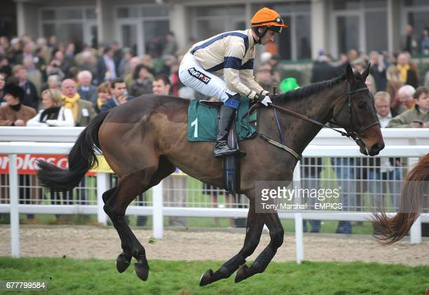 Up The Beat ridden by Patrick Mullins going to post for the Fulke Walwyn Kim Muir Challenge Cup Handicap Chase on St Patrick's Thursday during...