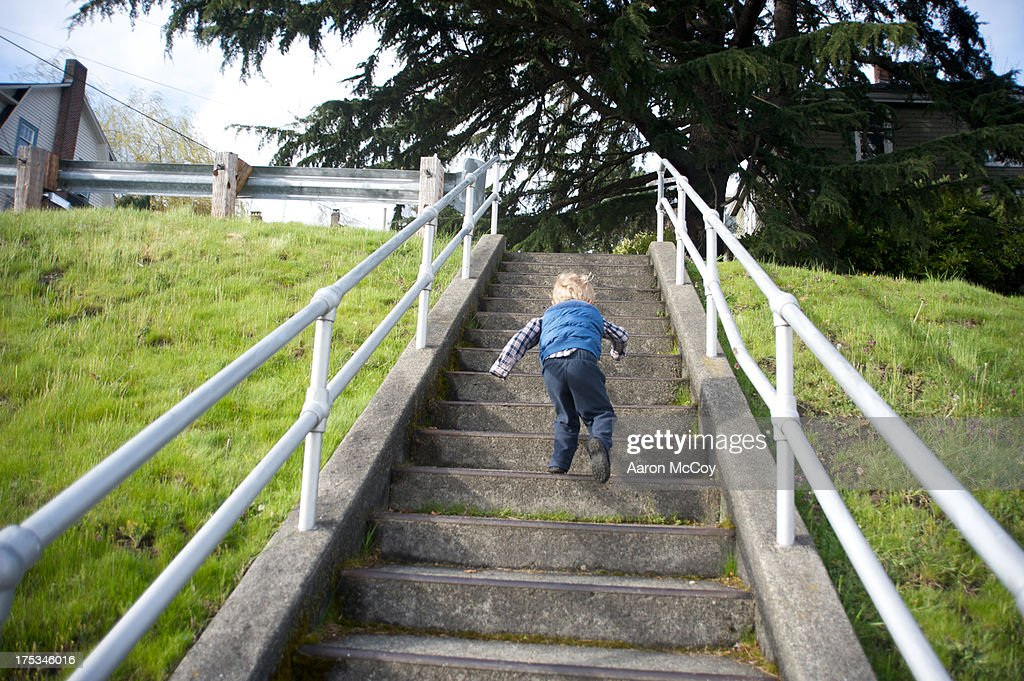 Up the stairs : Stock Photo