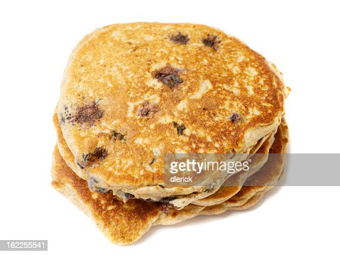 Up-close picture of stacked Blueberry Pancakes : Stock Photo