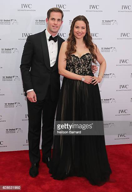 Upcoming IWC Schaffhausen CEO Christoph Graigner and Raya Abirached attend the IWC Filmmaker Award during day two of the 13th annual Dubai...