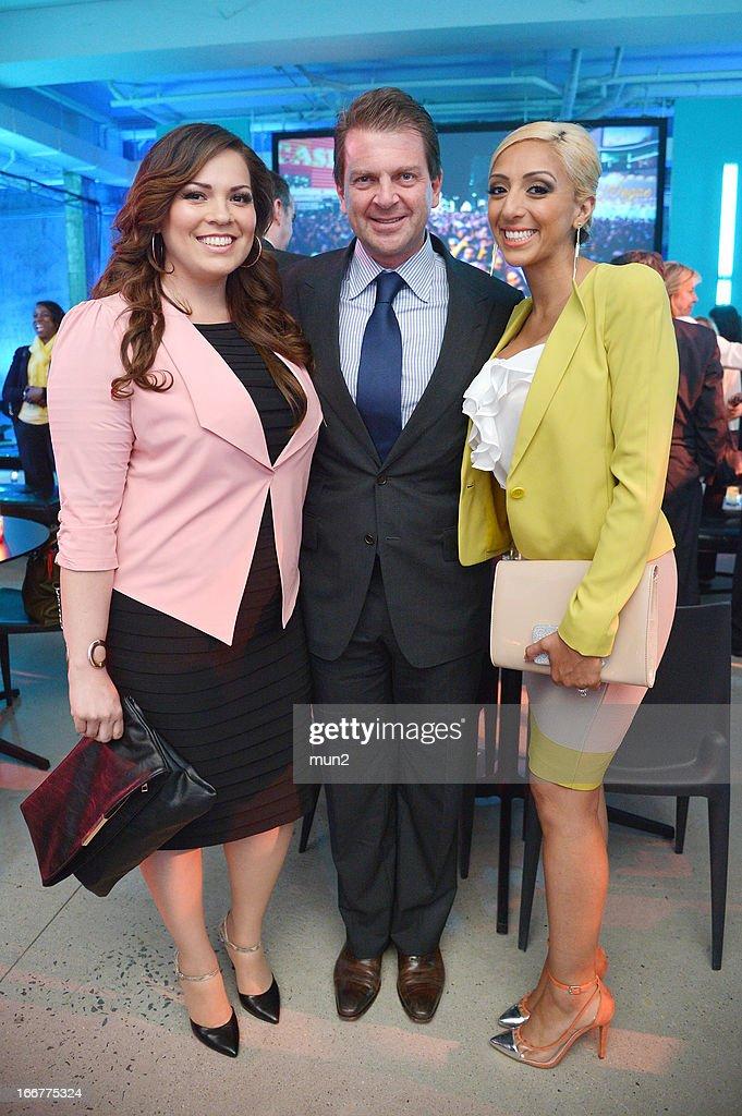 Jackie Mateos, Telemundo President Emilio Romano, and Liz Perez. --