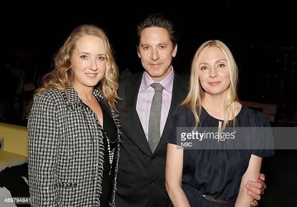 Upfront Presentation Green Room Pictured Jennifer Salke President NBC Entertainment Scott Cohen 'Allegiance' Hope Davis 'Allegiance'