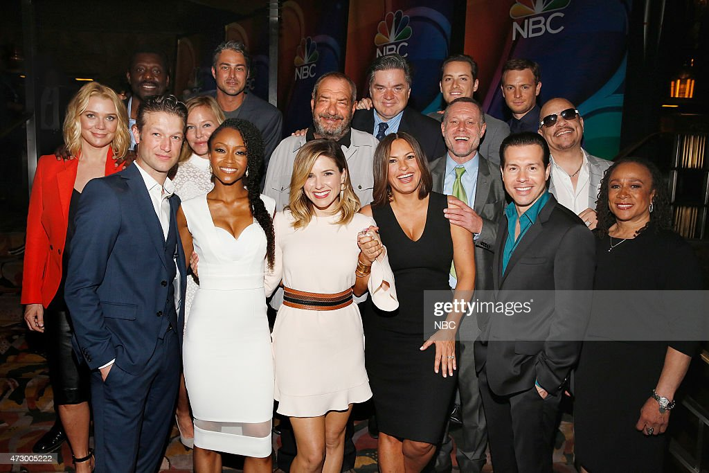 Upfront Presentation Red Carpet Arrivals Pictured Laurie Holden Eamonn Walker 'Chicago Fire' Peter Scanavino 'Law Order Special Victims Unit' Kelli...