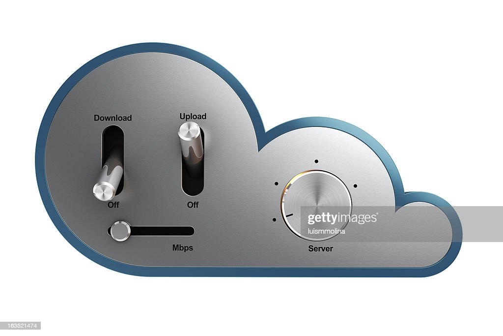 Uploading Data to the Cloud : Stock Photo