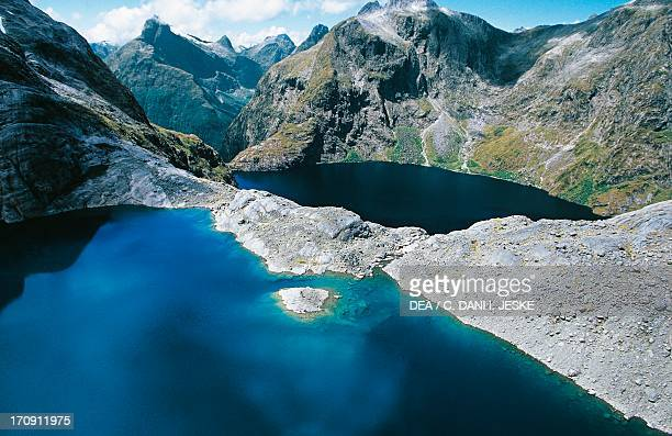Upper and Lower Lake Quill Fiordland National Park Te Wahipounamu South Island New Zealand