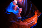 Upper Antelope Canyon is part of a series of slot canyons on Navajo land in Arizona.