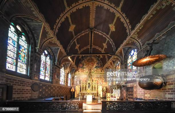 Upper Basilica of the Holy Blood in Flemish Gothic style in Bruges, Belgium, a UNESCO heritage site