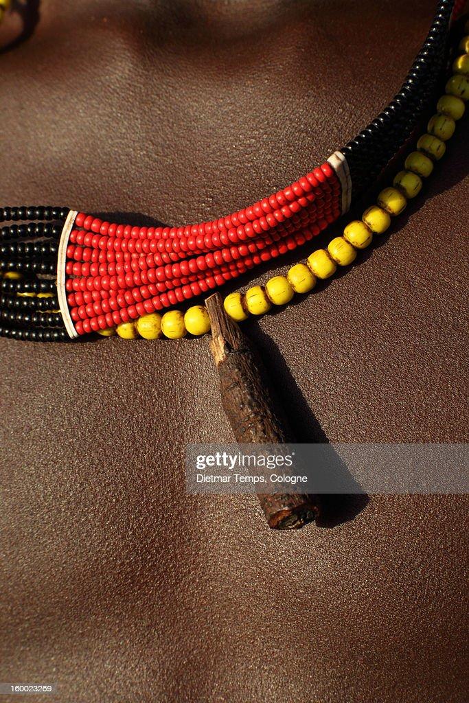 Upper body of  tribal Hamer boy, Ethiopia : Stock Photo