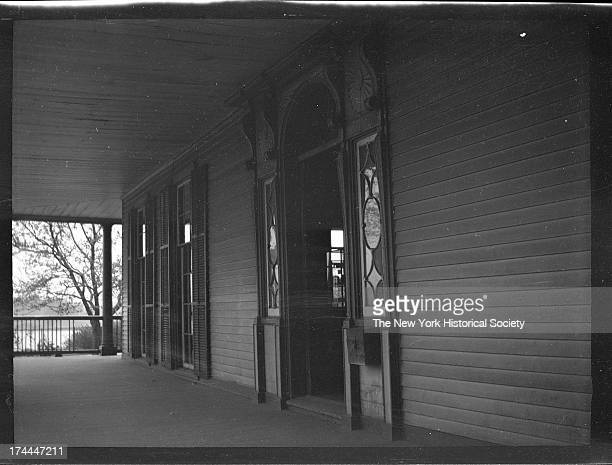 front porch of Gracie Mansion badly exposed New York New York early to mid 1920s