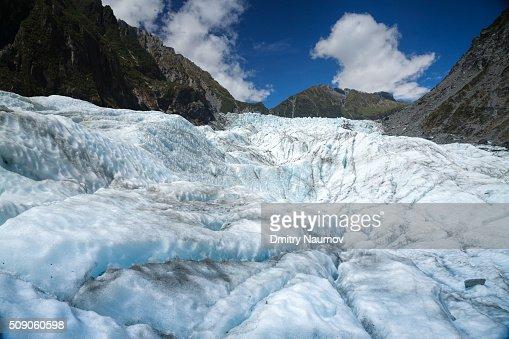 Upper part of Fox Glacier South Island New Zealand