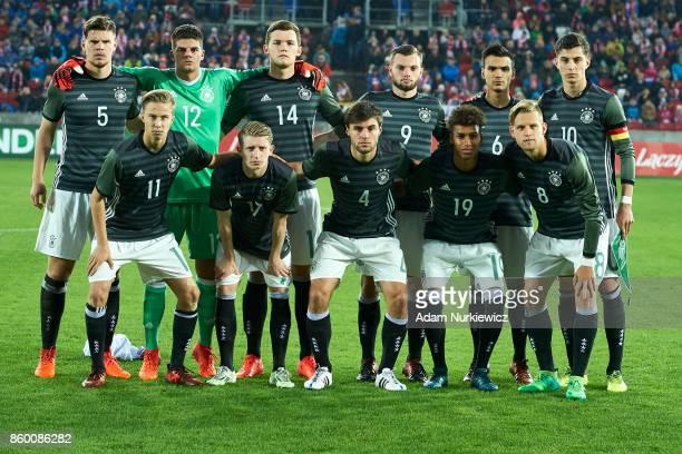 Upper row Florian Baak and goalkeeper Niclas Thiede and Luca Kilian and Manuel Wintzheimer and Atakan Akkaynak and Kai Havertz and down row Sam...