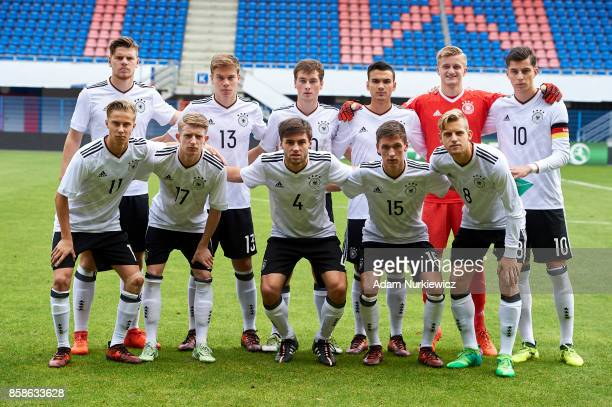 Upper row Florian Baak and Kilian Senkbeil and Yari Otto and Atakan Akkaynak and goalkeeper JanChristoph Bartels and Kai Havertz and bottom row Sam...