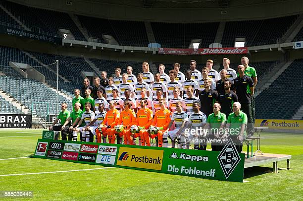 Upper row starts with Rehacoach Andreas Bluhm Andreas Christensen Christoph Kramer Jannik Vestergaard André Hahn Tobias Strobl TsyWilliam Ndenge Nico...