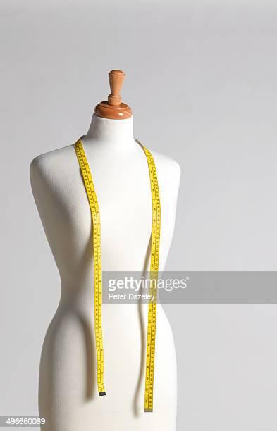 Upright dressmaker's mannequin