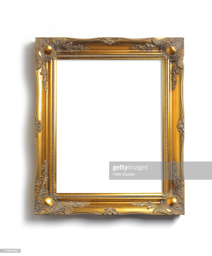 Upright picture frame with copy space